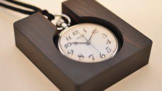無垢の黒檀で鉄道時計(懐中時計)スタンドを作ってみた。