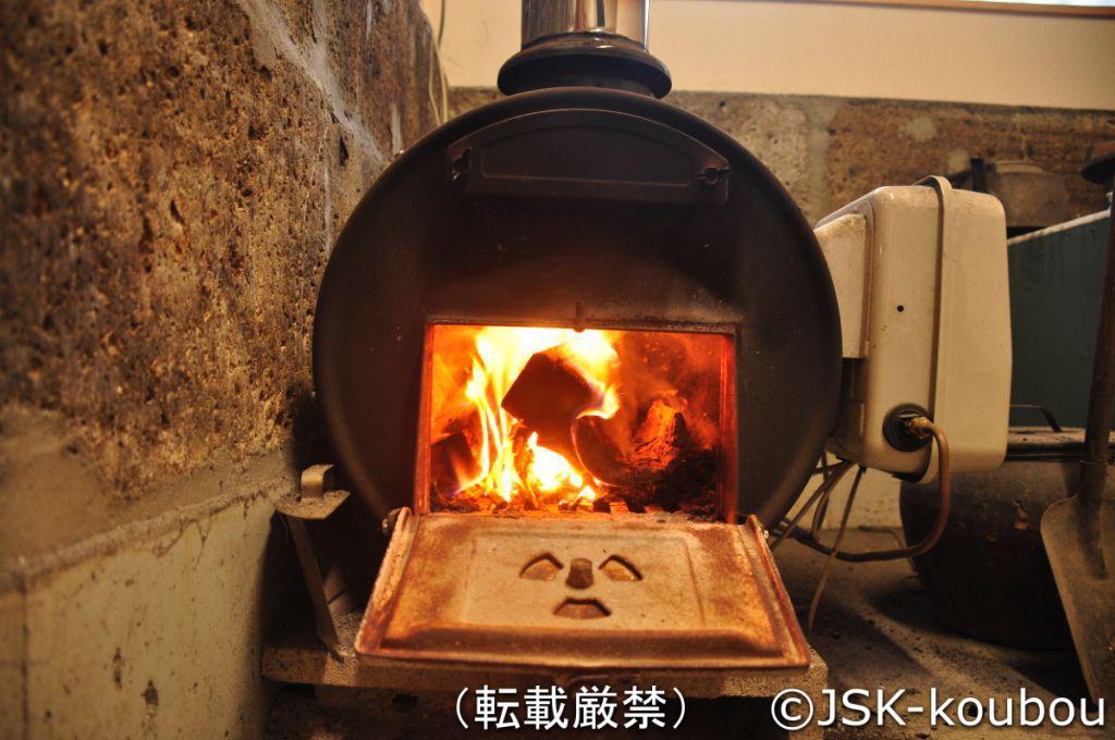 薪釜に火を入れてみました