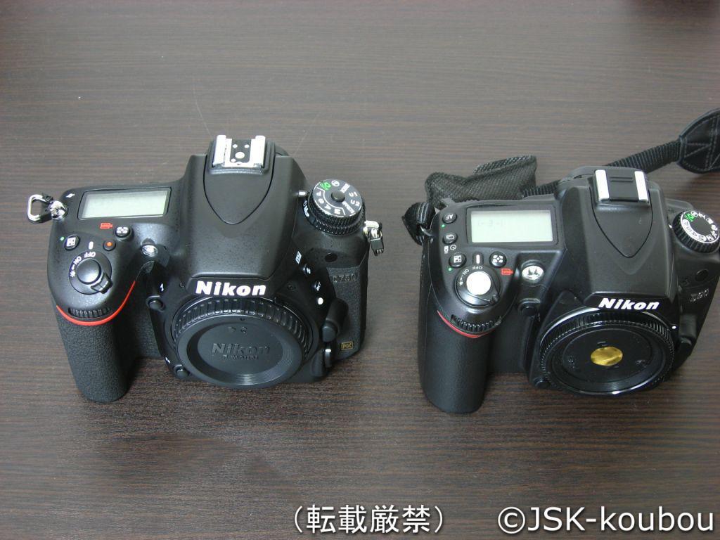 D90とD750の上面比較