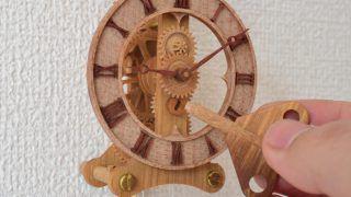 モジュール0.5の小さな木の歯車時計