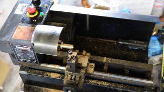 超小型旋盤を使ったダイヤモンド研磨機の利用